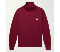 Logo-Appliquéd Merino Wool Rollneck Sweater