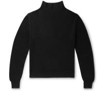 Daniel Ribbed Cashmere Mock-Neck Sweater