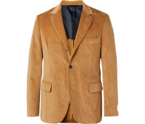 Olive-Green Andy Slim-Fit Cotton-Corduroy Suit Jacket