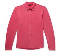 Slim-Fit Stretch-Cotton Jersey Shirt