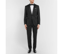 Black Hanfrey Slim-fit Silk-trimmed Super 120s Virgin Wool Tuxedo