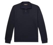 Virgin Wool-Blend Half-Zip Sweater