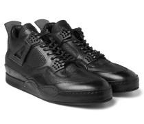 Mip-10 Nubuck-trimmed Leather Sneakers