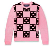 Lovers Checked Jacquard Sweater