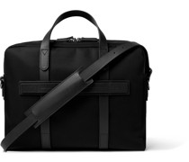 Endeavour Leather-Trimmed Nylon Briefcase