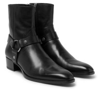 Leather Harness Boots
