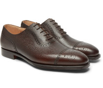 Adam Pebble-grain Leather Oxford Brogues