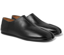 Tabi Collapsible-Heel Split-Toe Leather Loafers