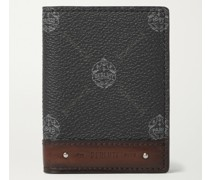 Signature Logo-Print Canvas and Leather Billfold Cardholder