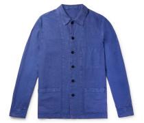 Garment-Dyed Linen Overshirt