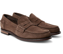 Cambridge Suede Penny Loafers