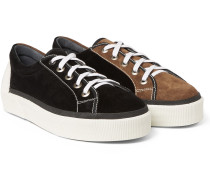 Two-tone Suede Sneakers