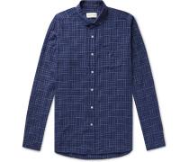 Eton Penny-Collar Checked Cotton Shirt