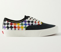 UA Authentic VLT LX Nubuck and Woven Leather Sneakers