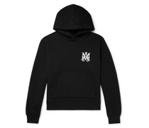 Logo-Embroidered Loopback Cotton-Jersey Hoodie
