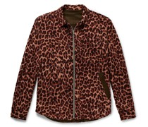 Reversible Leopard-Print Wool and Shell Jacket