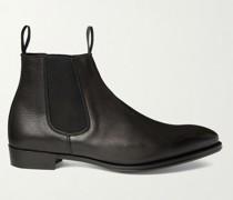 Jason Full-Grain Leather Chelsea Boots