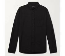 Button-Down Collar Cotton and Cashmere-Blend Shirt