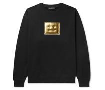 Forba Oversized Metallic Logo-Detailed Loopback Cotton-Jersey Sweatshirt