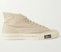 Kiefer Leather-Trimmed Canvas High-Top Sneakers