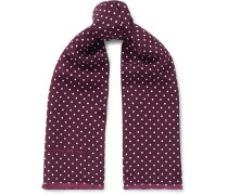 + Goodwood Polka-Dot Silk Scarf