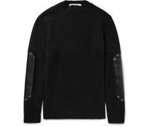 Leather Elbow-patch Wool Sweater