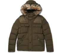 Litchfield Faux Fur-trimmed Canvas Hooded Down Parka