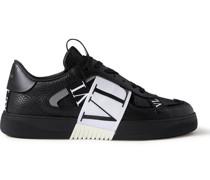 Valentino Garavani VL7N Webbing-Trimmed Leather Sneakers