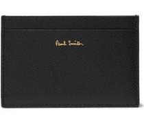 Tri-tone Cross-grain Leather Cardholder