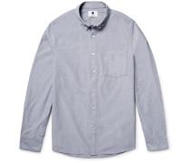 Falk Slim-fit End-on-end Cotton Shirt