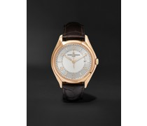 Fiftysix Automatic 40mm 18-Karat Pink Gold and Alligator Watch, Ref. No. 4600E/000R-B441 X46R2019