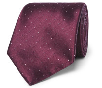 8.5cm Polka-dot Silk And Cotton-blend Tie