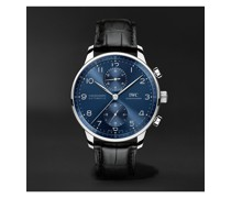 Portugieser Automatic Chronograph 41mm Stainless Steel and Alligator Watch, Ref. No. IW371606