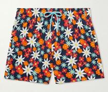 Moorise Floral-Print Mid-Length Swim Shorts