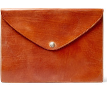 Concho Burnished-leather Pouch