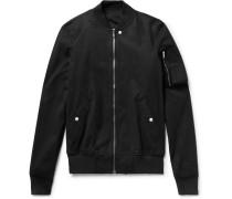 Raglan Stretch-cotton Canvas Bomber Jacket