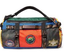 Appliquéd Colour-block Nylon Duffle Bag - Multi