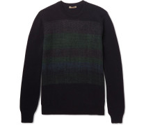 Jacquard-panelled Cashmere Sweater
