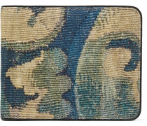 Printed Canvas Billfold Wallet