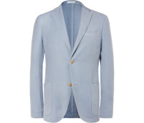 Blue K-jacket Wool And Silk-blend Blazer