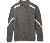 Cable And Waffle-knit Wool Sweater
