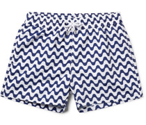 Copacabana Slim-fit Short-length Printed Swim Shorts