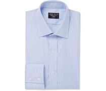 Sky-blue Striped Cotton Shirt