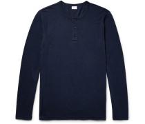 Miles Slub Linen-blend Henley T-shirt