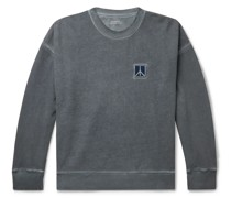 Ari Peace Embroidered Pigment-Dyed Loopback Cotton-Jersey Sweatshirt