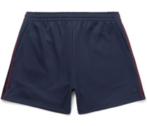Navarro Appliquéd Jersey Drawstring Shorts