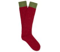 Mélange Wool-blend Socks