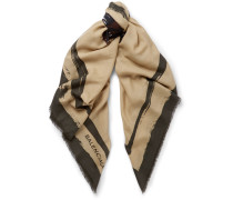 Printed Wool And Cashmere-blend Scarf