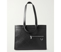 Logo-Debossed Leather Tote Bag