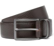 3.5cm Brown Sopprin Full-grain Leather Belt